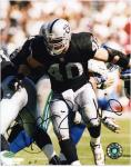 Jon Ritchie Oakland Raiders Autographed 8'' x 10'' Blocking Photograph - Mounted Memories