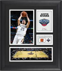 "Austin Rivers New Orleans Pelicans Framed 15"" x 17"" Collage with Team-Used Ball"