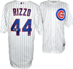 Anthony Rizzo Chicago Cubs Autographed Team Issued White Pinstripe Jersey