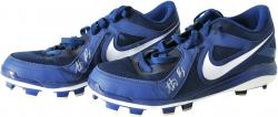 Anthony Rizzo Chicago Cubs Autographed Blue Nike MVP Cleats - Mounted Memories  - Mounted Memories