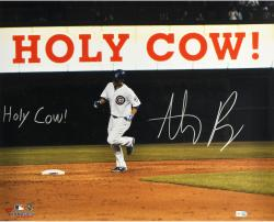 "Anthony Rizzo Chicago Cubs Autographed 16"" x 20"" Holy Cow Photograph with Holy Cow Inscription"