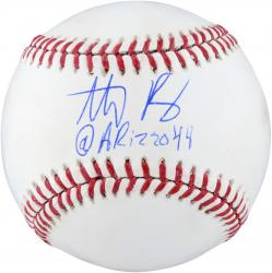 Anthony Rizzo Chicago Cubs Autographed Baseball with @ARIZZO44 Inscription