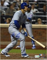 "Anthony Rizzo Chicago Cubs Autographed 8"" x 10"" Gray Uniform Swing Photograph"