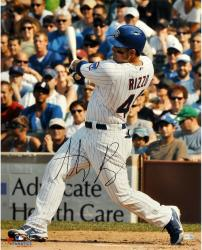 """Anthony Rizzo Chicago Cubs Autographed 16"""" x 20"""" Swinging Home Uniform Photograph"""
