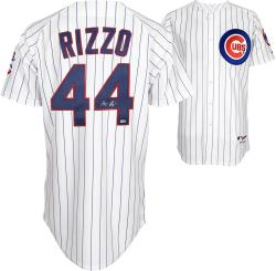 Anthony Rizzo Chicago Cubs Autographed Replica Jersey - White Pinstripe
