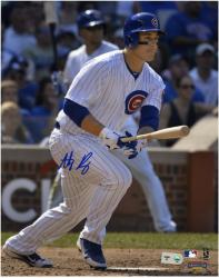 "Anthony Rizzo Chicago Cubs Autographed 8"" x 10"" Run Photograph"