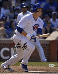 "Anthony Rizzo Chicago Cubs Autographed 8"" x 10"" White Uniform Photograph"
