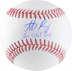 "RIZZO, ANTHONY AUTO ""GO CUBS"" (MLB) BASEBALL - Mounted Memories"