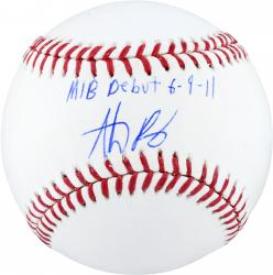 Anthony Rizzo Chicago Cubs Autographed Baseball with MLB Debut 6-9-11 Inscription