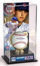 Anthony Rizzo Baseball Display Case with Gold Glove & Plate