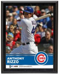 """Anthony Rizzo Chicago Cubs Sublimated 10.5"""" x 13"""" Plaque"""