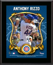 """Anthony Rizzo Chicago Cubs Sublimated 10.5"""" x 13"""" Stylized Plaque"""