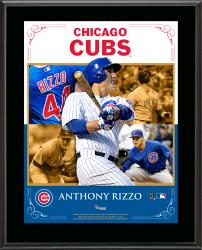 """Anthony Rizzo Chicago Cubs Sublimated 10.5"""" x 13"""" Composite Plaque"""