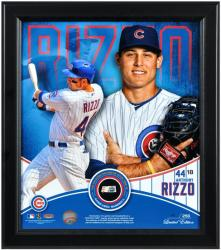 """Anthony Rizzo Chicago Cubs Framed Multi-Photo 15"""" x 17"""" Collage with Game Used Baseball Limited Edition of 250"""