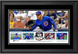 Anthony Rizzo Chicago Cubs Framed Panoramic with Piece of Game-Used Ball - Limited Edition of 500