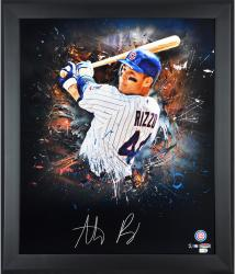 "Anthony Rizzo Chicago Cubs Framed Autographed 20"" x 24"" In Focus Photograph"