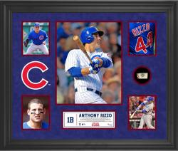 Anthony Rizzo Chicago Cubs Framed 5-Photo Collage with Piece of Game-Used Ball