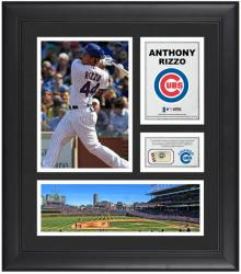 "Anthony Rizzo Chicago Cubs Framed 15"" x 17"" Collage with Game-Used Baseball"