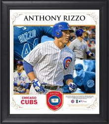 "Anthony Rizzo Chicago Cubs Framed 15"" x 17"" Collage with Piece of Game-Used Ball"