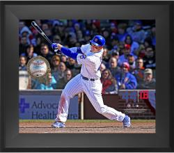"Anthony Rizzo Chicago Cubs Framed 20"" x 24"" Gamebreaker Photograph with Game-Used Ball"