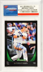 Anthony Rizzo San Diego Padres Autographed 2011 Bowman Rookie Card #70 Card