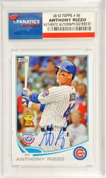 Anthony Rizzo Chicago Cubs Autographed 2013 Topps #80 Card