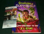 Rl Stine Goosebumps Signed Autographed Slappy Birthday To You Book Jsa Coa B