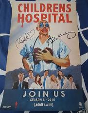 Rob Corddry Huebel autographed signed auto Children's Hospital 2014 SDCC poster