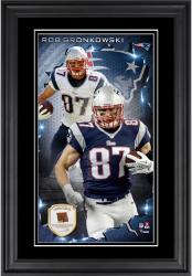 Rob Gronkowski New England Patriots 10'' x 18'' Vertical Framed Photograph with Piece of Game-Used Football - Limited Edition of 250