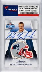 Rob Gronkowski New England Patriots Autographed 2010 Panini Prestige Rookie #NFL-RG Card Helmet Edition
