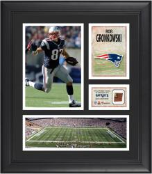Rob Gronkowski New England Patriots Framed 15'' x 17'' Collage with Game-Used Football - Mounted Memories