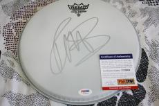 Rob Halford signed drumhead, Judas Priest, Sin After Sin, PSA/DNA, COA