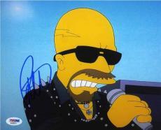 Rob Halford Simpsons Judas Priest Autographed Signed 8x10 Photo PSA/DNA COA