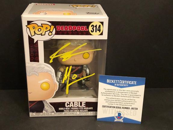 Rob Liefeld & Art Thibert Signed Marvel Cable Funko Pop *Creator Of Deadpool BAS