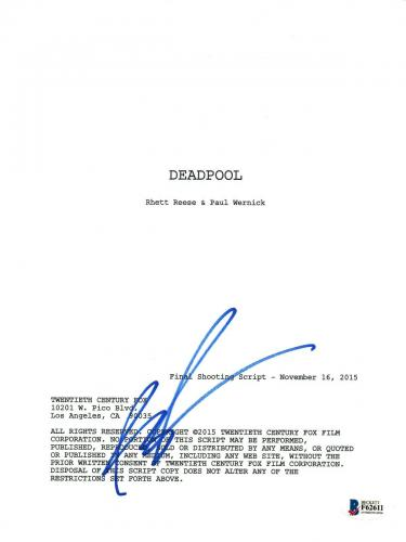 Rob Liefeld Signed Autographed DEADPOOL Creator Movie Script Beckett BAS COA