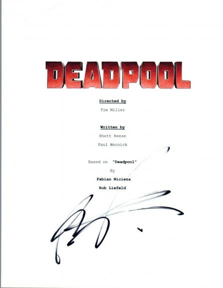 Rob Liefeld Signed Autographed DEADPOOL Movie Script Screenplay COA