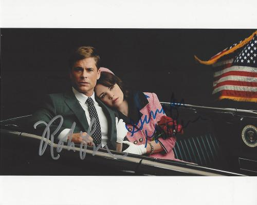 """ROB LOWE as JOHN F. KENNEDY and GINNIFER GOODWIN as JACQUELINE KENNEDY in 2013 TV Movie """"KILLING KENNEDY"""" Signed by Both 10x8 Color Photo"""