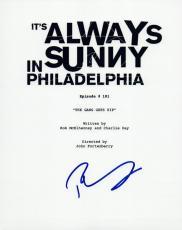 Rob McElhenney Signed It's Always Sunny in Philadelphia Pilot Episode Script VD