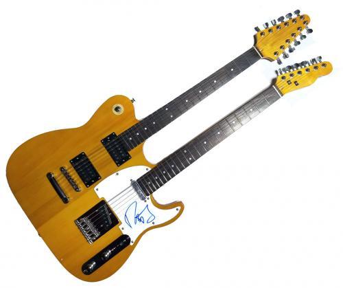 Rob Thomas Autographed Double Neck Telecaster Guitar UACC RD AFTAL RACC TS