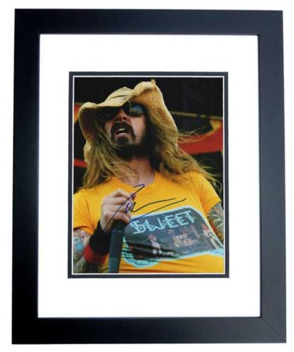 Rob Zombie Signed - Autographed White Zombie Heavy Metal Singer 11x14 inch Photo BLACK CUSTOM FRAME - Guaranteed to pass PSA or JSA