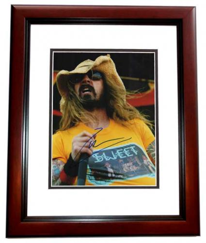Rob Zombie Signed - Autographed White Zombie Heavy Metal Singer 11x14 inch Photo MAHOGANY CUSTOM FRAME - Guaranteed to pass PSA or JSA