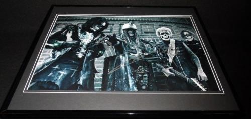 Rob Zombie Band Signed Framed 16x20 Photo Poster Display