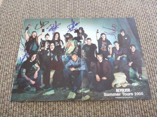 Rob Zombie Chad Gray + 4 Autographed Signed 11x15 Magazine Poster PSA Guarantee