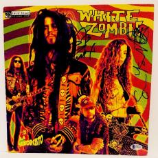 ROB ZOMBIE & SEAN YSEULT Signed WHITE ZOMBIE Album LP Beckett BAS #C83611