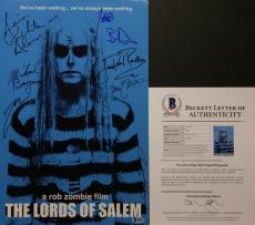 Rob Zombie Sheri Moon Zombie Meg Foster +7 Signed Lords Of Salem 12x18 Photo BAS