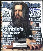 Rob Zombie Signed 1999 Rolling Stone Magazine PSA/DNA #Z58916