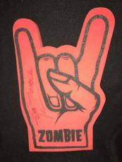 Rob Zombie Signed 666 Foam Fingers Rare Full Autograph From 1999! White Zombie