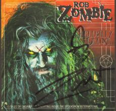 """ROB ZOMBIE Signed Autographed """"Hellbilly Deluxe"""" CD Cover JSA #R46331"""
