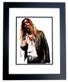 Rob Zombie Signed - Autographed White Zombie - Heavy Metal Singer 8x10 inch Photo - BLACK CUSTOM FRAME - Guaranteed to pass PSA or JSA