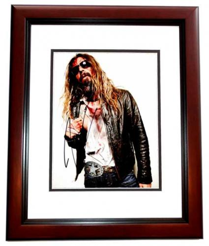 Rob Zombie Signed - Autographed White Zombie - Heavy Metal Singer 8x10 inch Photo - MAHOGANY CUSTOM FRAME - Guaranteed to pass PSA or JSA